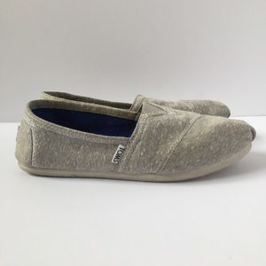 Toms gray shoes size 8.5